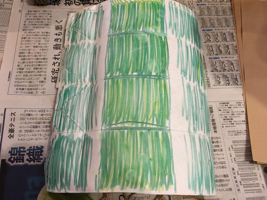 竹は牛乳パックを使用